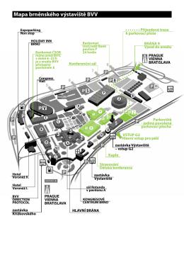 Mapa brněnského výstaviště BVV