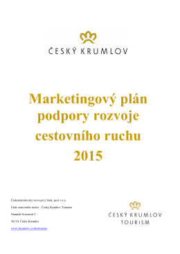 Příloha PP - Marketingový plán CR 2015