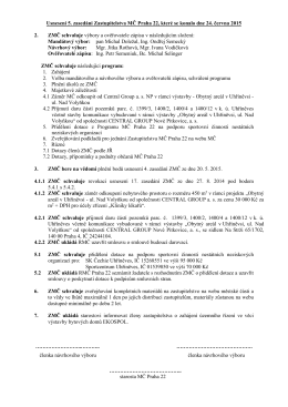 Usnesení 5 ZMČ dne 24.6.2015