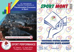 sport mont - Univerzitet Crne Gore