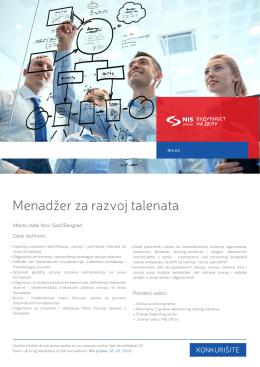 Menadžer za razvoj talenata