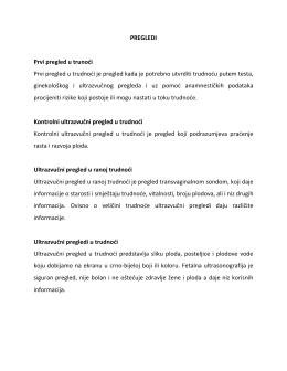Pregledi - Dr. Mahira Jahić
