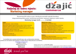 Marketing manager.cdr - Džajić commerce | Ljubuški, BiH