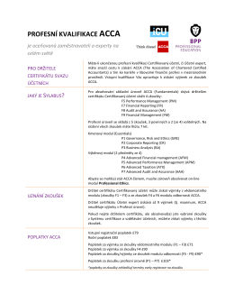 ICU ACCA Professional - INSTITUT CERTIFIKACE ÚČETNÍCH, as