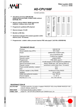 Katalogový list AD-CPU166F