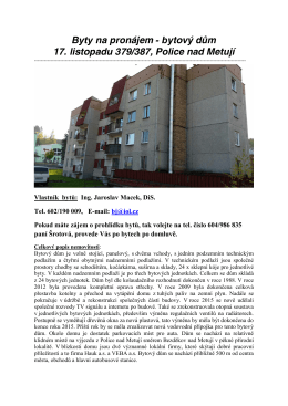 bytový dům 17. listopadu 379/387, Police nad Metují