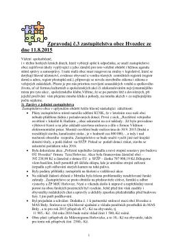 informační zpravodaj č. 3/2015
