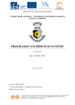 Programování řídicích systémů 10