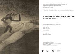 Pozvánka na výstavu Alfred Kubin a Sascha Schneider