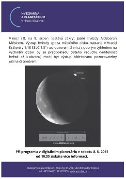 Ethan Frome - Hvězdárna a planetárium Hradec Králové