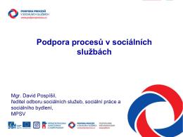 Sborník prezentací - Podpora procesů v sociálních službách