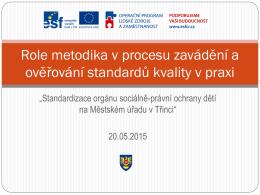 Role metodika v procesu standardizace