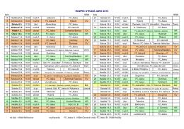 ROZPIS UTKÁNÍ JARO 2015 - FC Jiskra (Králíky