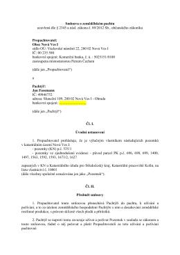Pachtovní smlouva č. 56-15