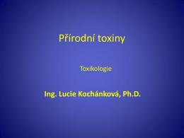 Toxikologie - 12 Prirodni toxiny