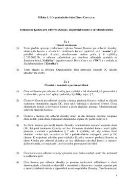 1 Příloha č. 1 Organizačního řádu Direct Care s.r.o. Jednací řád