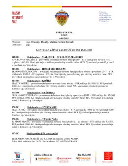 9. Zápis STK ze dne 6.5.2015