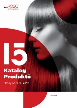 Katalog produktů ROSO Cosmetics platný od 1. 9. 2015 ke stažení