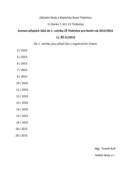 Základní škola a Mateřská škola Třebívlice U Zámku 7, 411 15