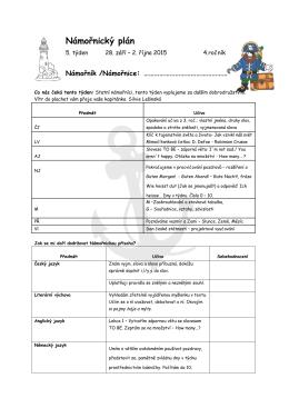 Námořnický plán 4. ročník