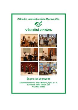 Výroční zpráva ZUŠ MORAVA 2014-2015