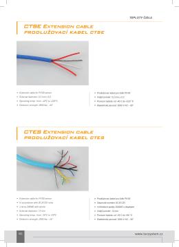 CTES Extension cable PRODLUŽOVACÍ KABEL CTES CTSE