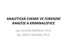 Forenzní (soudní) chemie