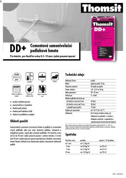 Technický list – DD+ Cementová samonivelační podlahová hmota