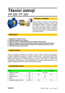 Těsnící ústrojí PP 250, PT 200 _ č.45 _