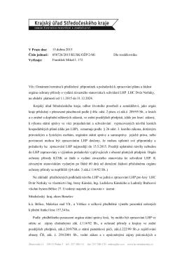 058726/2015/KUSK/OŢP/2-Mi Vyřizuje: František Mikeš l