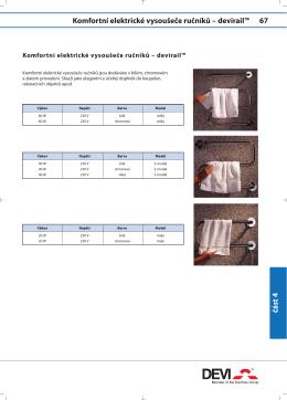 Komfortní elektrické vysoušeče ručníků – devirail™ 67 část 4