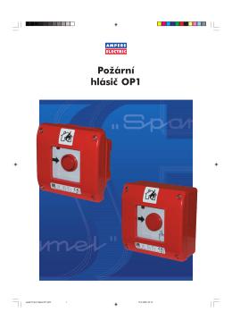Leták Požární hlásič OP1.p65 - Ampere