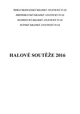 HALOVÉ SOUTĚŽE 2016