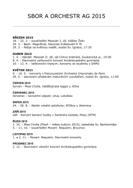 Plán činnosti 2015