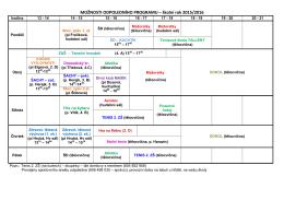 MOŽNOSTI ODPOLEDNÍHO PROGRAMU – školní rok 2009/2010
