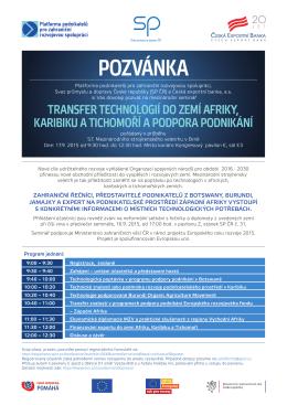POZVÁNKA - Platforma podnikatelů pro zahraniční rozvojovou