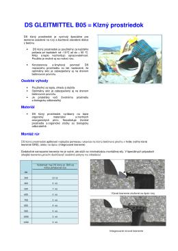 DS GLEITMITTEL B05 ≡ Klzný prostriedok