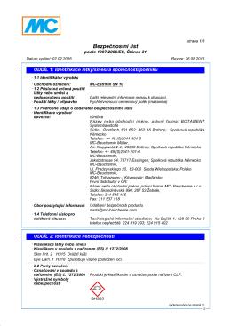 Bezpecnostni listy MC-Estrifan SN 10-CZ {PDF, 0 - MC