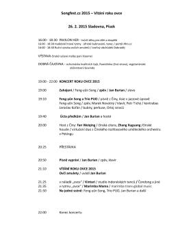 Songfest.cz 2015 – Vítání roku ovce 26. 2. 2015 Sladovna, Písek