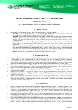 všeobecné obchodní podmínky pro nákup zboží a služeb - SE