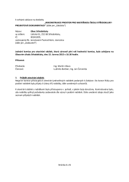Protokol komise – projekt MŠ