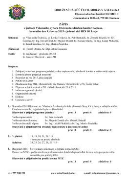 Zápis z VV OSH 2015-06-09