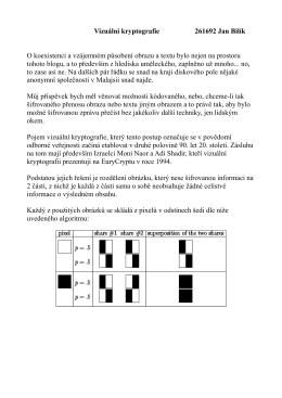 Vizuální kryptografie 261692 Jan Bilík O koexistenci a