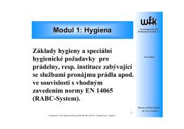 Modul 1: Hygiena