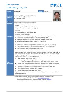 Profil - Česká komora PMI