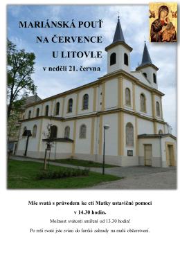 MARIÁNSKÁ POUŤ NA ČERVENCE U LITOVLE v neděli 21. června