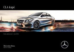 Ceník, platnost od 3. července 2015 - Mercedes-Benz