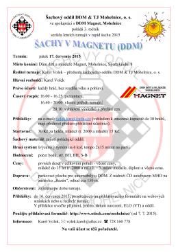 17. července odpoledne začíná v mohelnickém Magnetu 3. ročník