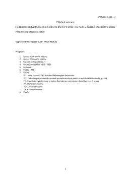 Usnesení zastupitelstva obce 14.9.2015