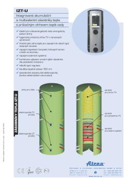 Integrované akumulační a multivalentní zásobníky tepla s průtočným